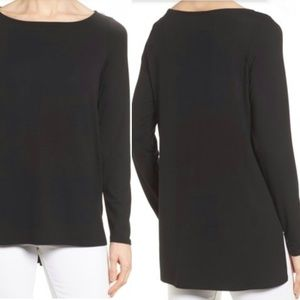 Eileen Fisher Jersey High Low Hem Top